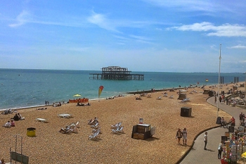 What is left of the West pier