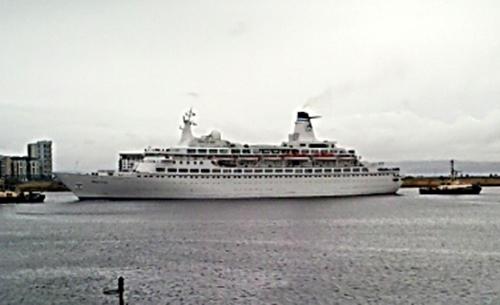 cruise ship in Leith