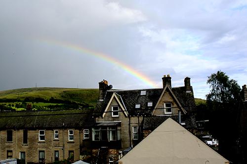 half a rainbow over Henry Street