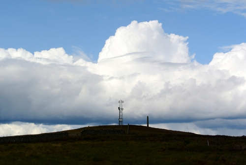 monument and clouds