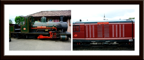 The oldest 12 inch gauge  locomotive  and a much more modern diesel.