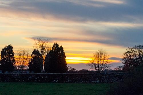 sunset at Gretna