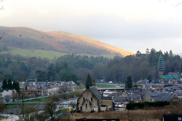 sunshine on Castle hill