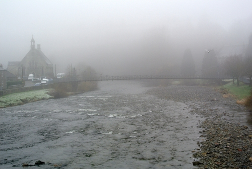 Langholm Bridge in the mist