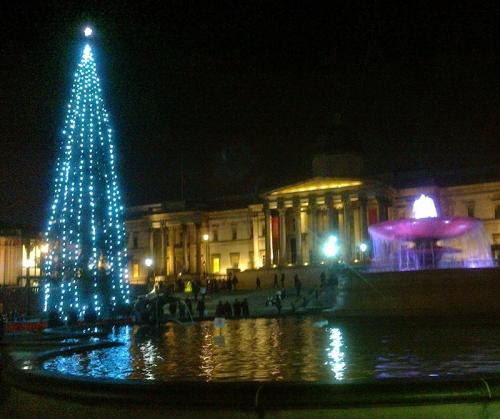 Christmas tree, Trafalgar Square