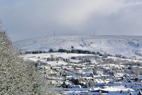 Langholm in snow