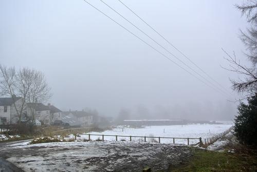 Meikleholm in mist