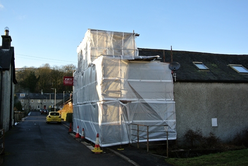 Wrapped house
