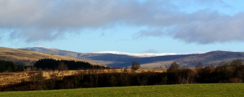snow on the hills