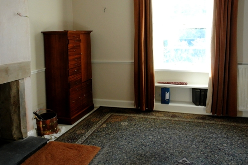 carpet and cupboard