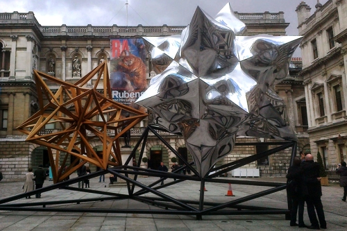 Sculpture outside the Royal Academy