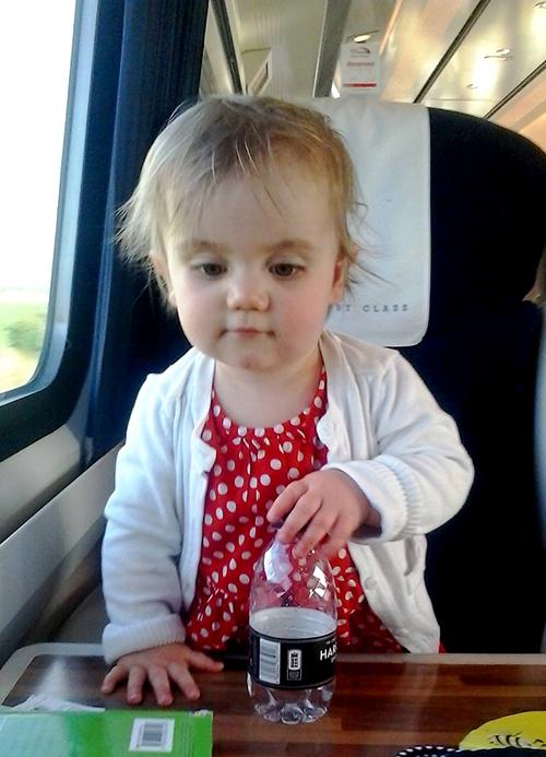 Matilda on a train