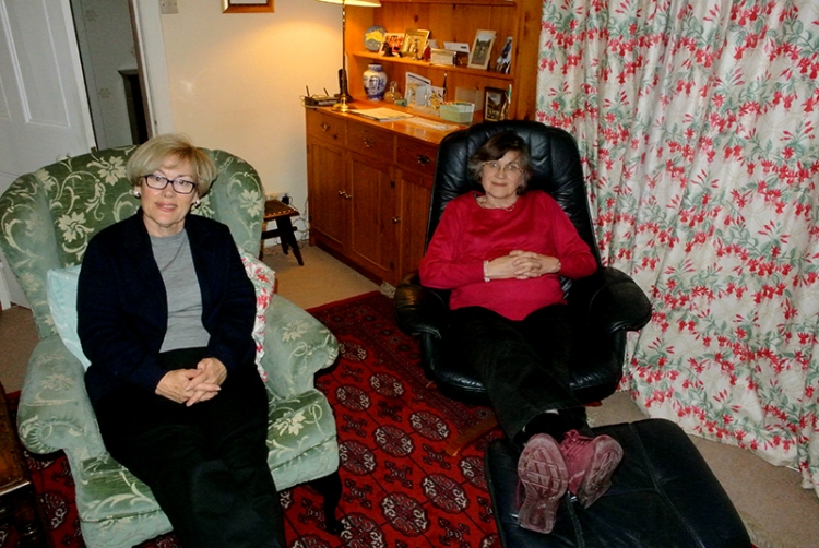 Mrs Tootlepedal with her sister in law Frankie