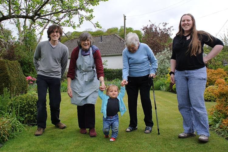 Matilda Al and Clare Granny and Mum