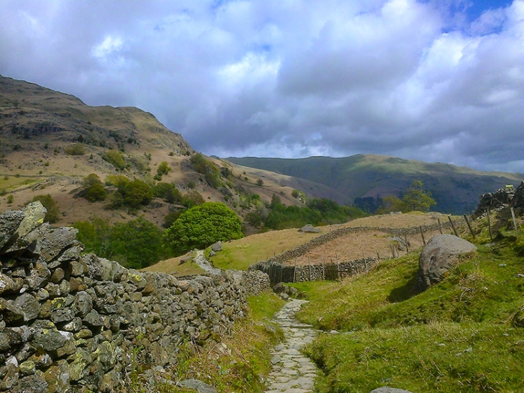 Looking back down path to Easedale Tarn
