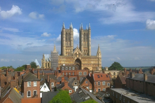 Lincoln cathedral, from the Castle walls