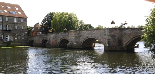 Old bridge over River Ouse