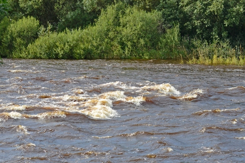 River esk in spate