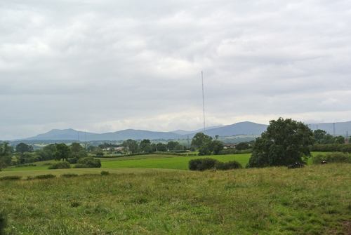 Lake District hills from Hutton End