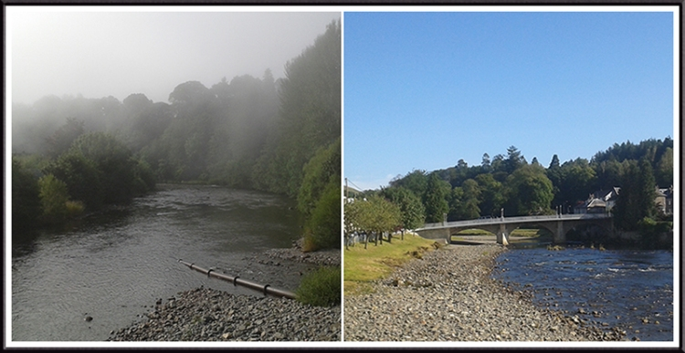 It is hard to believe that the two pictures were taken from the same spot at the same time.