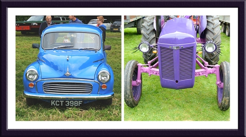 morris minor and tractor