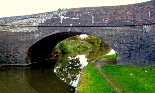 Looking back at the same bridge