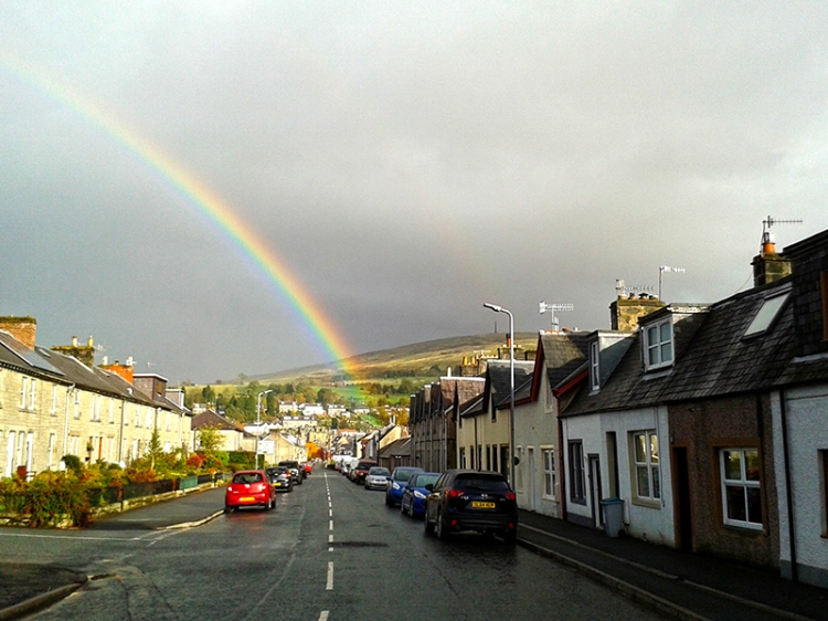 Caroline St rainbow