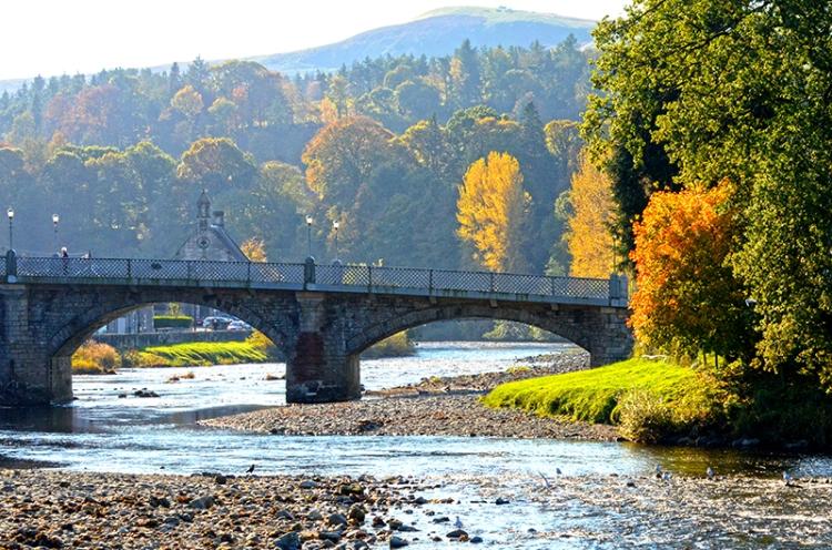 Town Bridge in Autumn