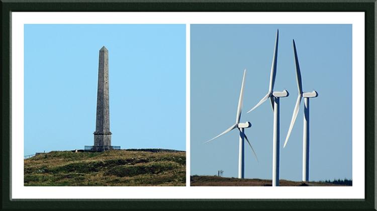 Monument and Craig windmills