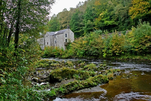 The distillery from the bank of the Esk