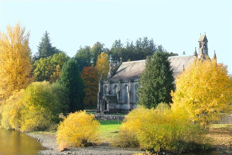 Parish church in Autumn