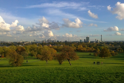 View from top of Primrose Hill