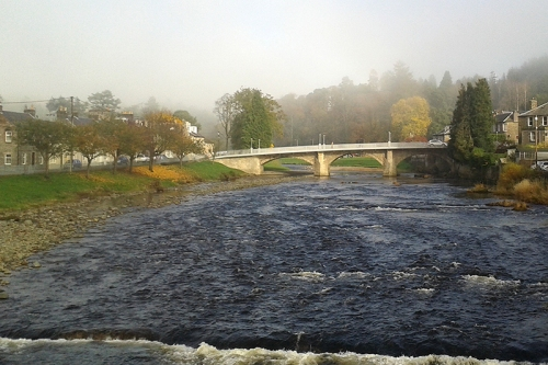 Langholm Bridge in mist