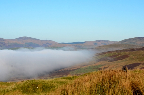 ewes valley in mist