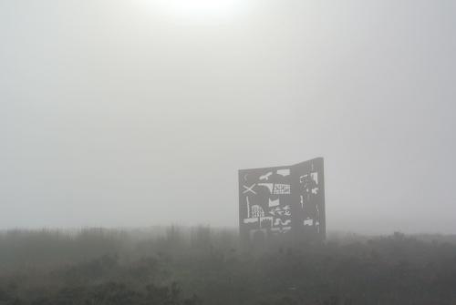 McDiarmid Memorial in mist