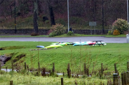 kayaks on the Kilngreen