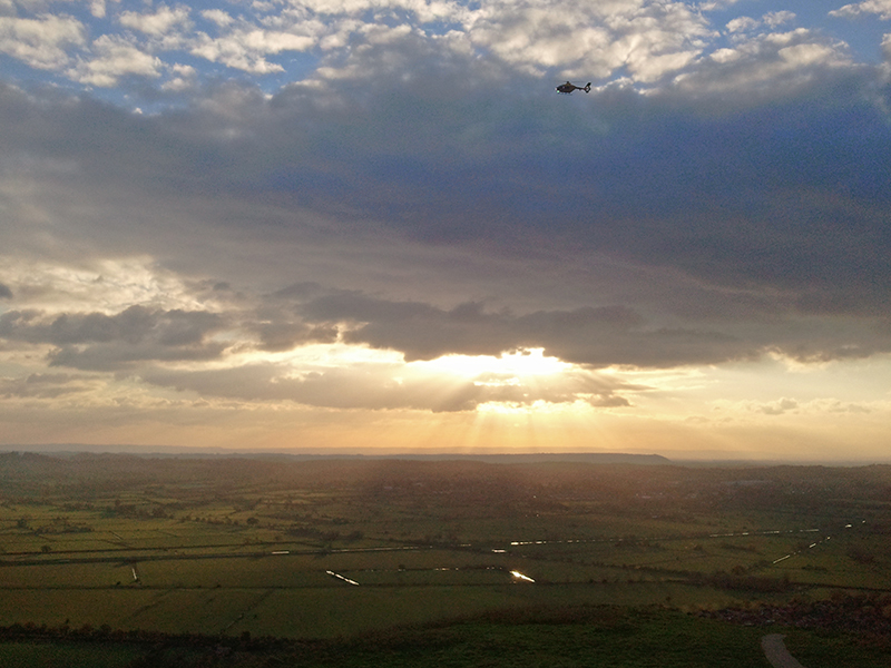 View from Glastonbury Tor 2013
