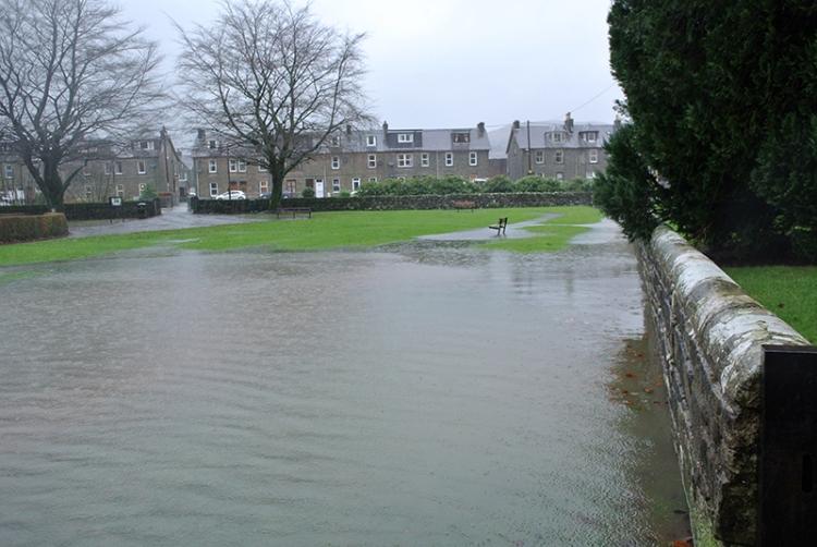 Park in flood