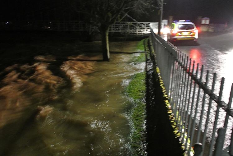 Elizabeth Street in flood
