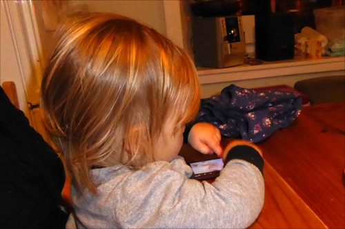 Matilda on the phone
