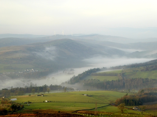 Mist in the Esk valley