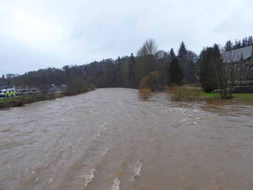 Esk in flood