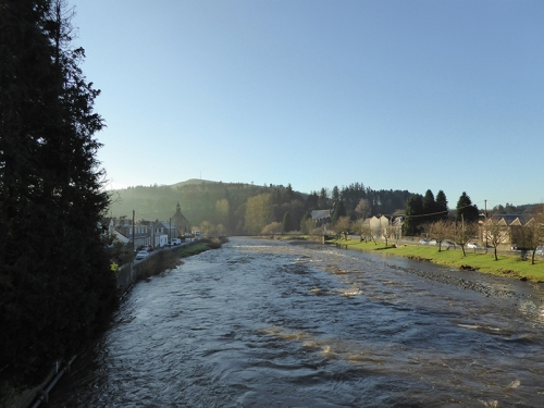View from Langholm Bridge