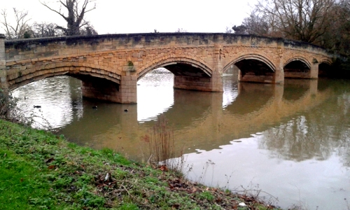 And a mediaeval bridge across the River Soar