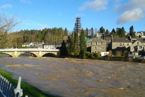 Esk in flood and sun