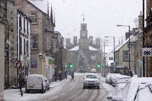 High Street in snow