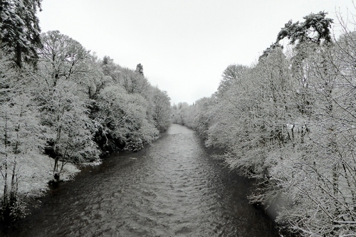 River Esk in snow
