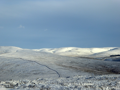 Tarras in snow