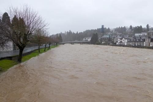 River Esk in flood