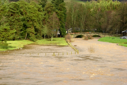 Castleholm in flood